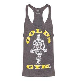 Gold's Gym Muscle Joe Premium String Vest - Grey Marl