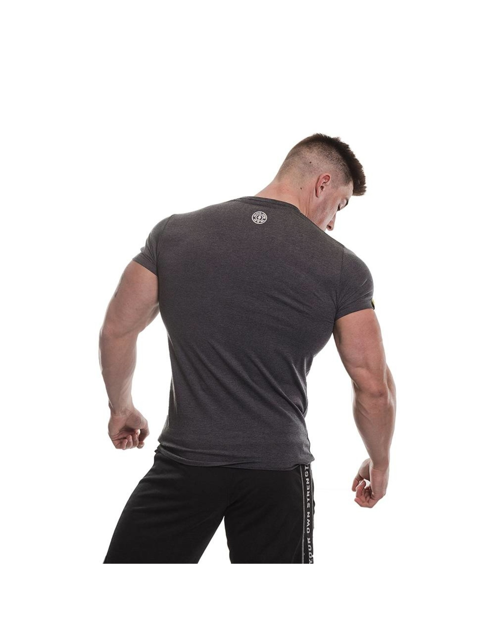 Gold's Gym Vintage Style T-shirt - Charcoal Marl