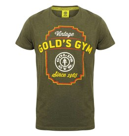 Gold's Gym Vintage Style T-shirt - Army Marl