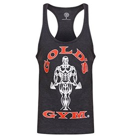 Gold's Gym Muscle Joe Premium String Vest - Charcoal Marl