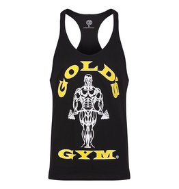Gold's Gym Muscle Joe Premium String Vest - Black