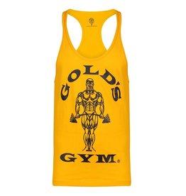 Gold's Gym Muscle Joe Premium String Vest - Gold