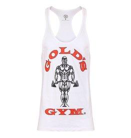 Gold's Gym Muscle Joe Premium String Vest - White
