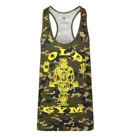Gold's Gym Muscle Joe Camo Premium Stringer Vest - Green