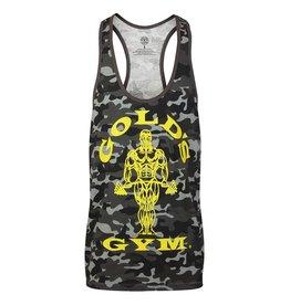 Gold's Gym Muscle Joe Camo Premium Stringer Vest - Black