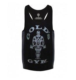 Gold's Gym Muscle Joe Tonal Panel Stringer Vest - Black