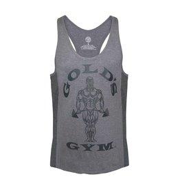 Gold's Gym Muscle Joe Tonal Panel Stringer Vest - Grey