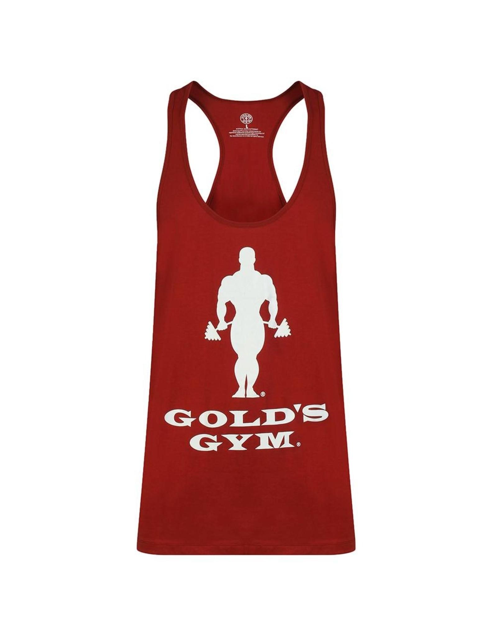 Gold's Gym Slogan Premium Stringer Vest - Burgundy