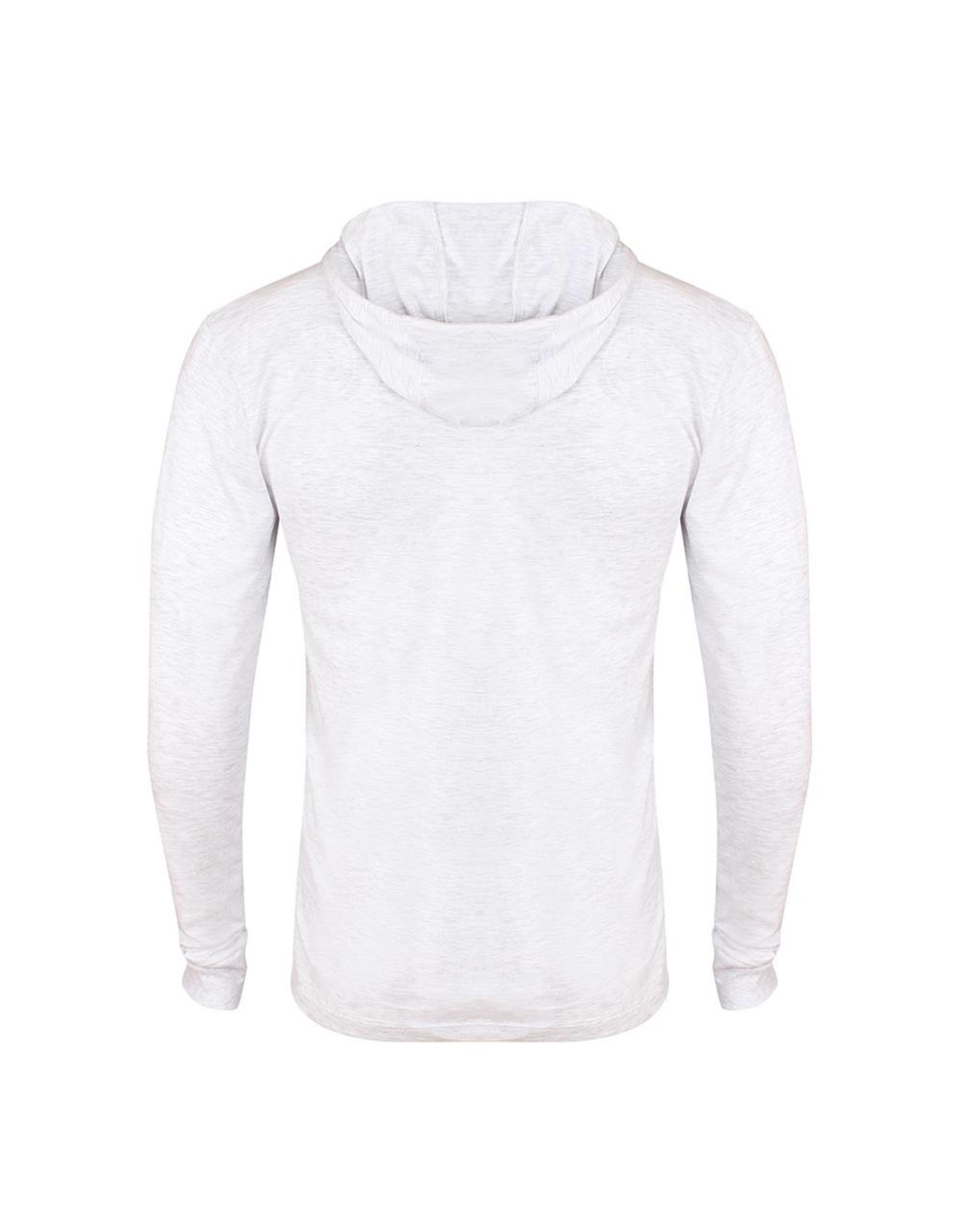 Gold's Gym Muscle Joe Long Sleeve Hooded T-shirt - Vintage White Marl
