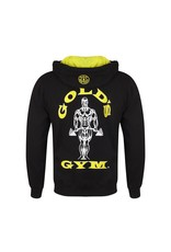 Gold's Gym Zip Through Muscle Joe Hoodie - Black