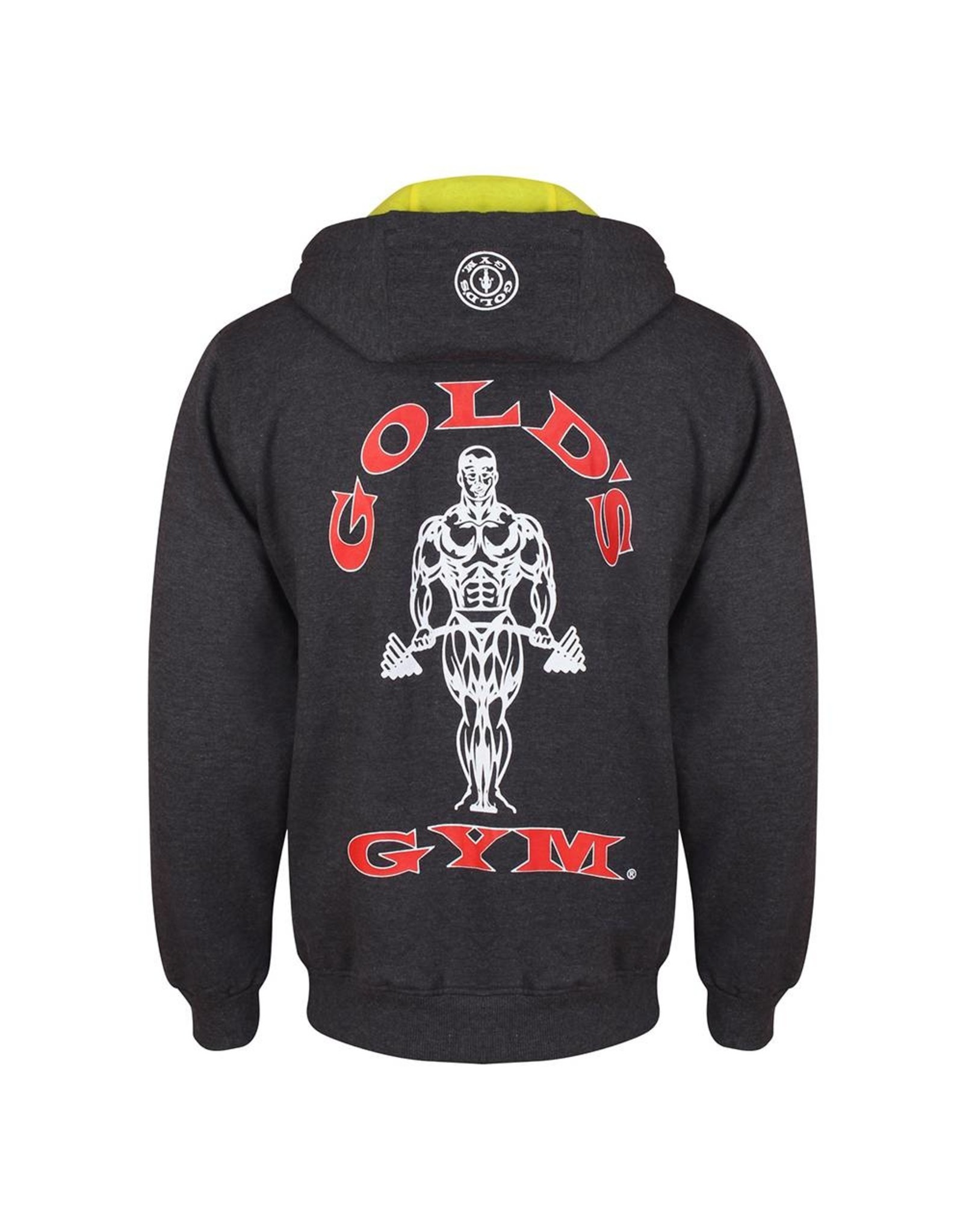 Gold's Gym Zip Through Muscle Joe Hoodie - Charcoal Marl