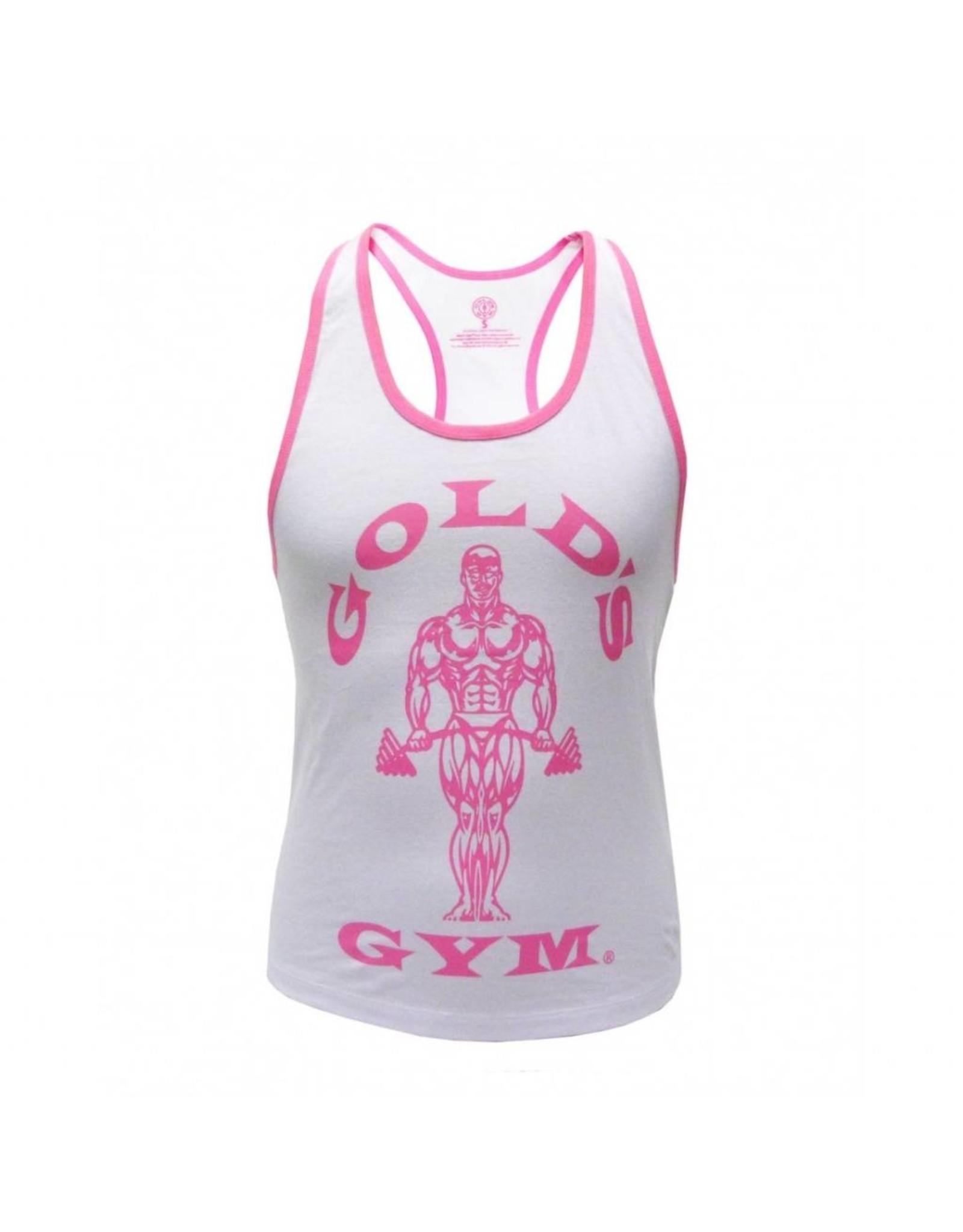 Gold's Gym Muscle Joe Ladies Premium Stringer Vest - White