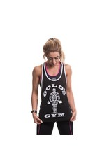 Gold's Gym Muscle Joe Ladies Premium Stringer Vest - Black