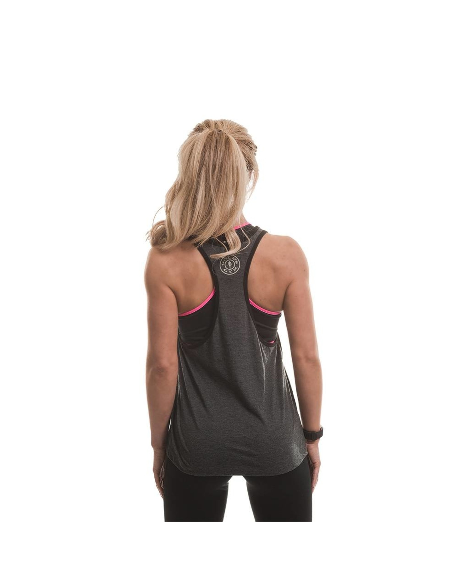 Gold's Gym Muscle Joe Ladies Premium Stringer Vest - Grey