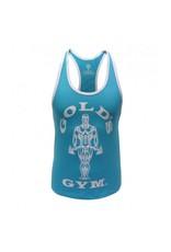 Gold's Gym Muscle Joe Ladies Premium Stringer Vest - Turquoise