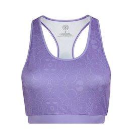 Gold's Gym Ladies Pattern Printed Sports Crop Top - Lilac