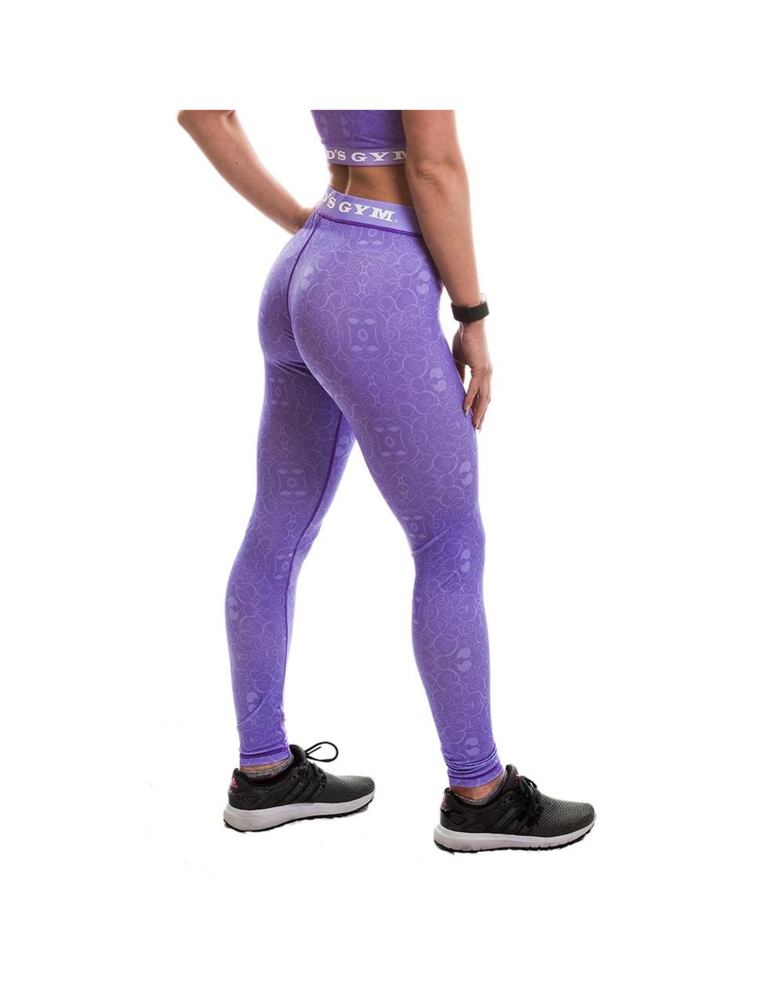 Gold's Gym Ladies Pattern Printed Gym Leggings - Lilac