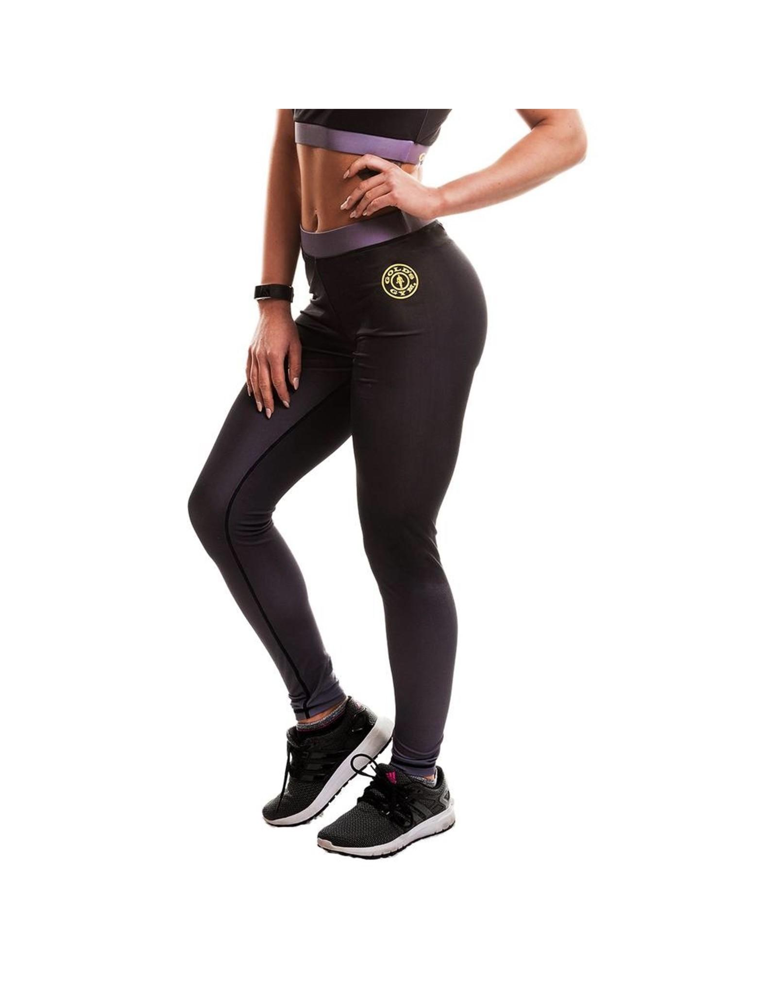 Gold's Gym Ladies Gradient Sublimated Gym Leggings - Black