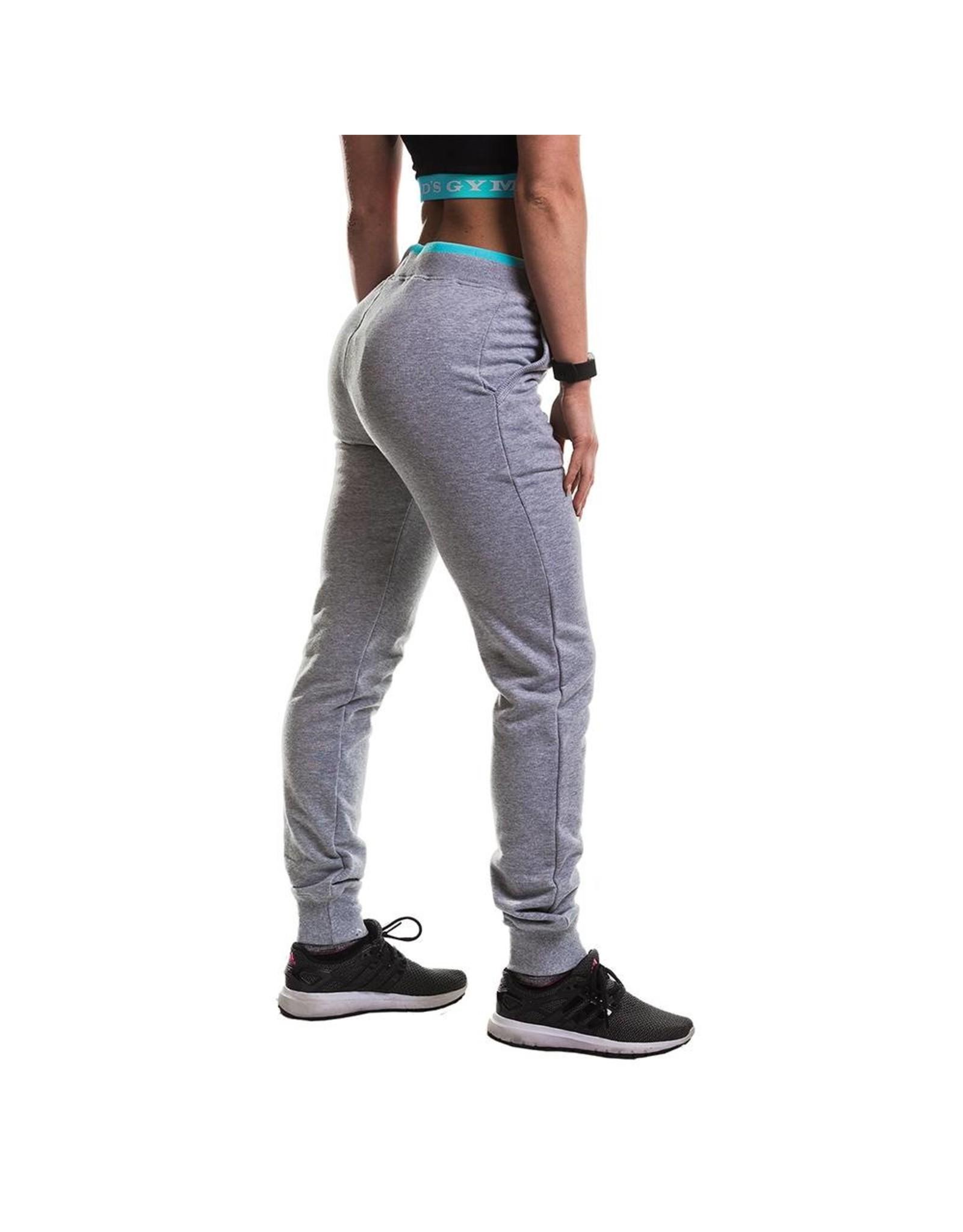 Gold's Gym Ladies Fitted Premium Jog Pants - Grey