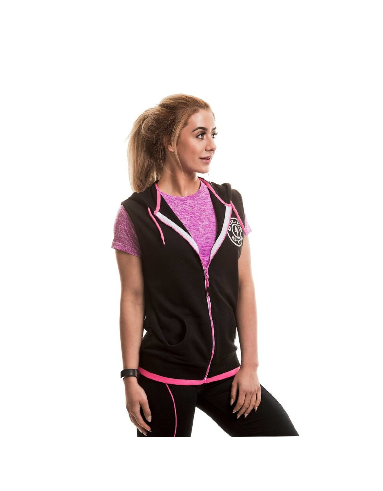 Gold's Gym Muscle Joe Premium Sleeveless Hoodie - Black