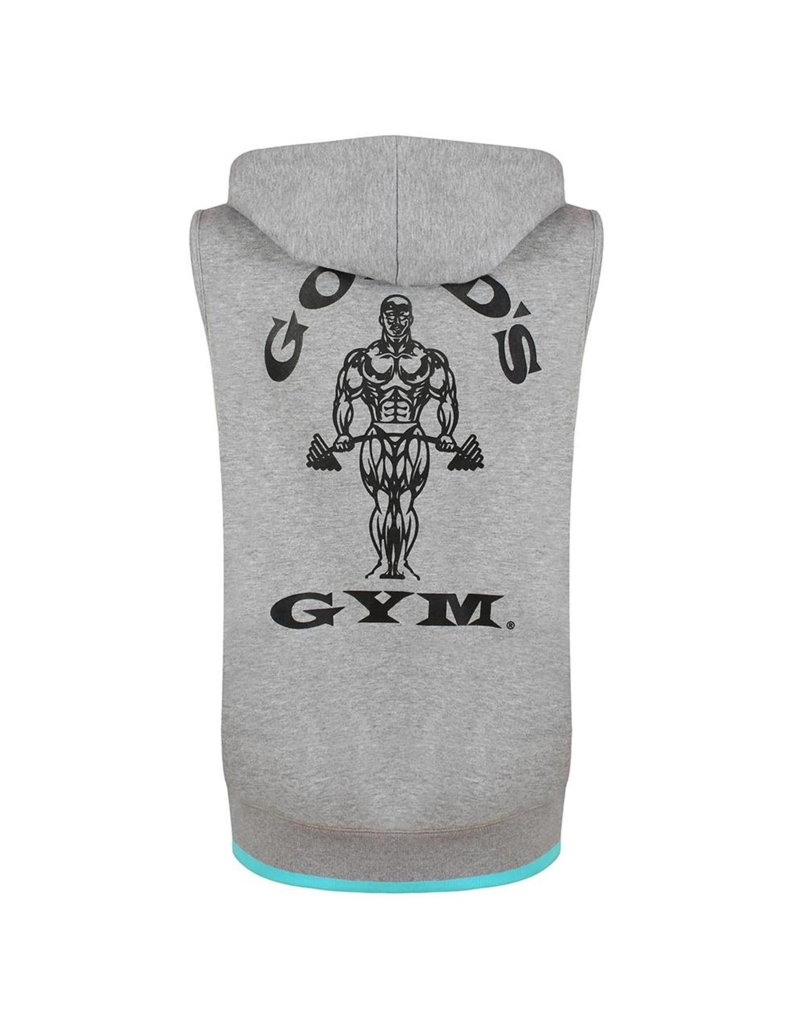 Gold's Gym Muscle Joe Premium Sleeveless Hoodie - Grey