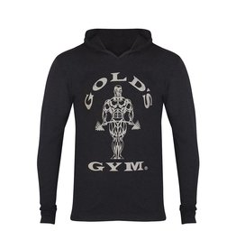 Gold's Gym Muscle Joe Long Sleeve Hooded T-shirt - Black