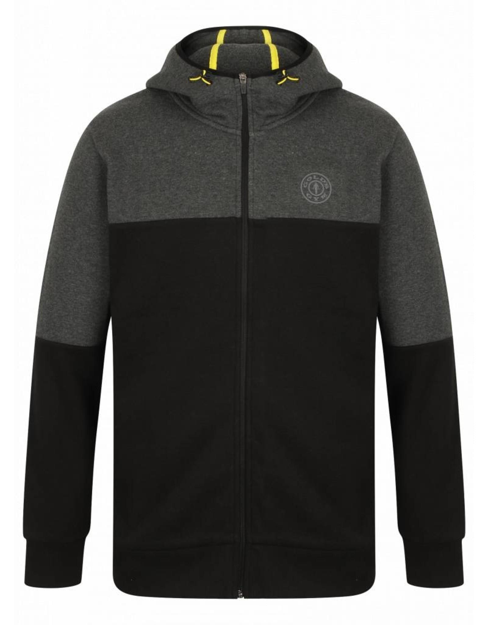Gold's Gym FZ Tech Hoodie - Black/Charcoal