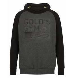Gold's Gym Pullover Embossed Hoodie - Black/Charcoal