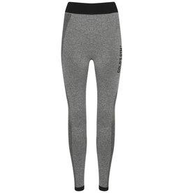 Gold's Gym Ladies Seamless Leggings - Grey Marl/Black