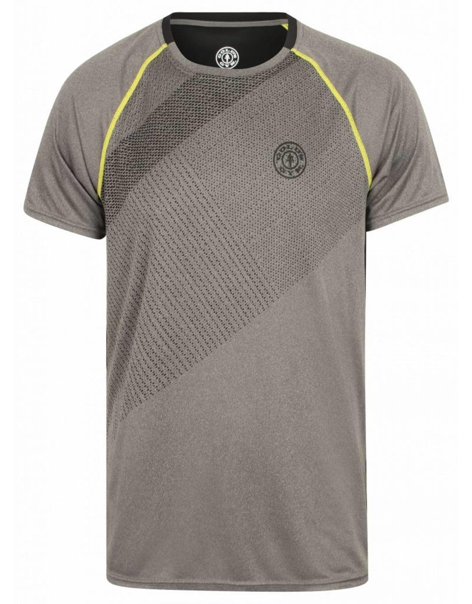 Gold's Gym Crew Neck Performance T-shirt - Grijs/Zwart