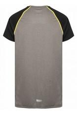 Gold's Gym Crew Neck Performance T-shirt - Zwart/Grijs