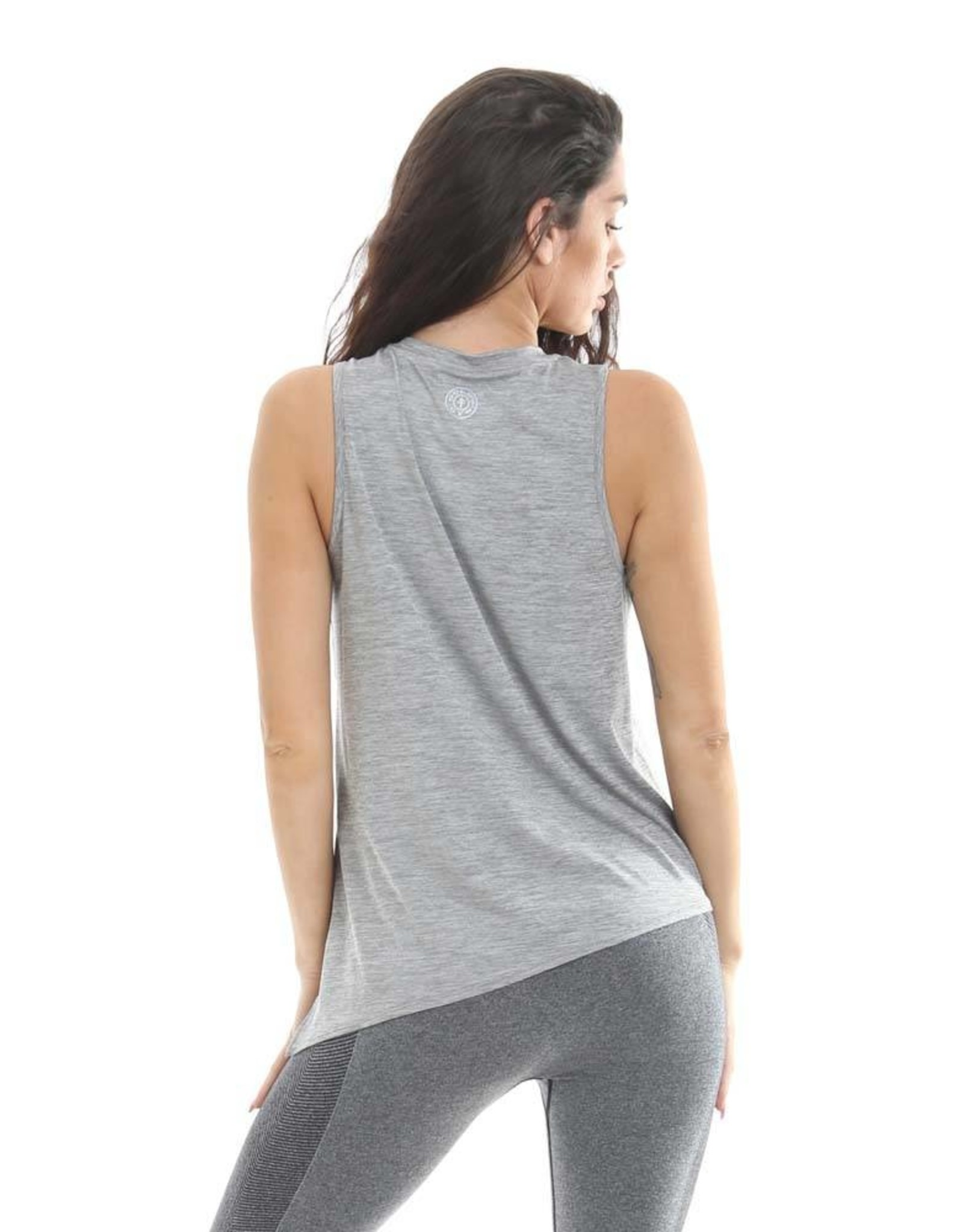 Gold's Gym Ladies Angled Hem Vest Top - Grey