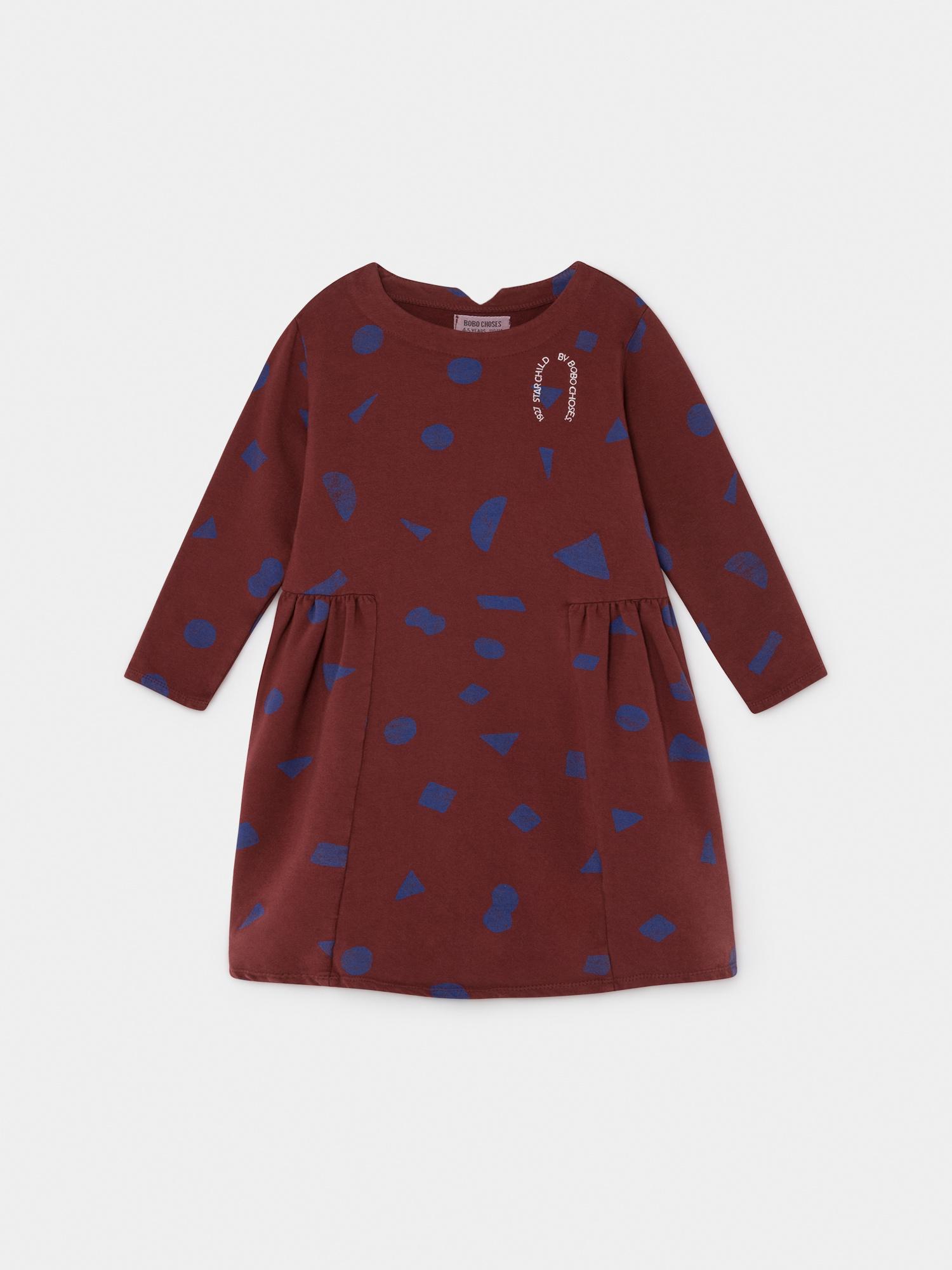 All Over Stuff Fleece Dress-1