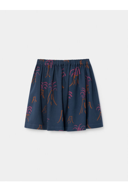 All Over Volcano Flared Skirt