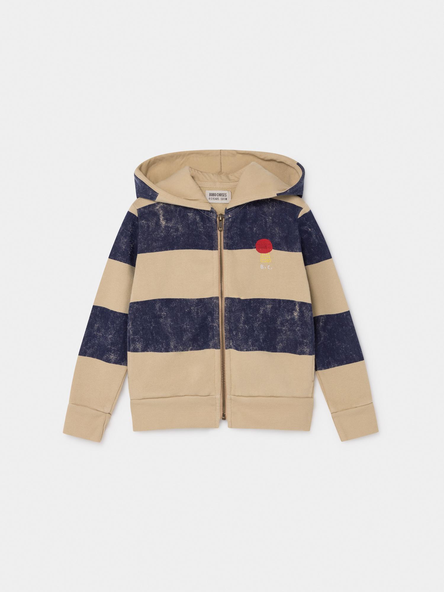 Striped Mercury Hooded Sweatshirt-1