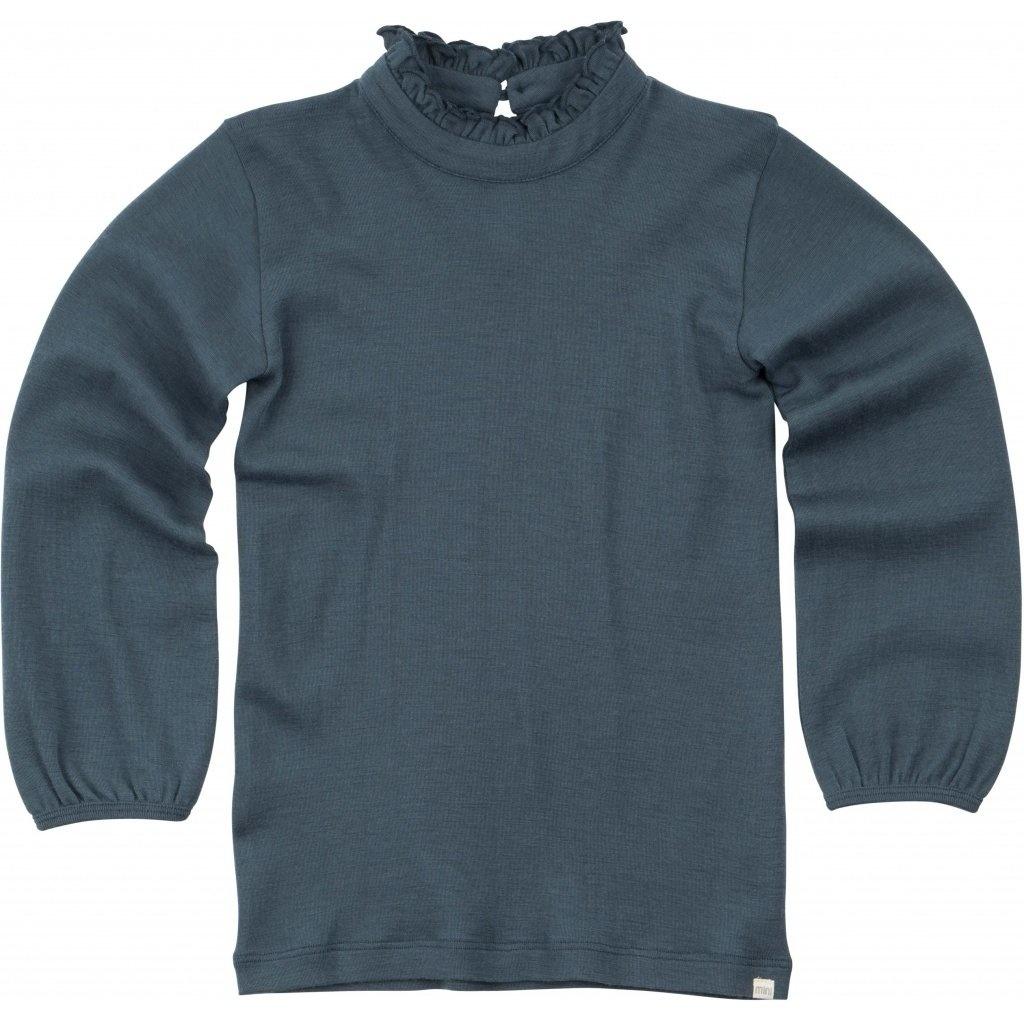 Vanja long sleeve T-shirt - Thunder Blue-1