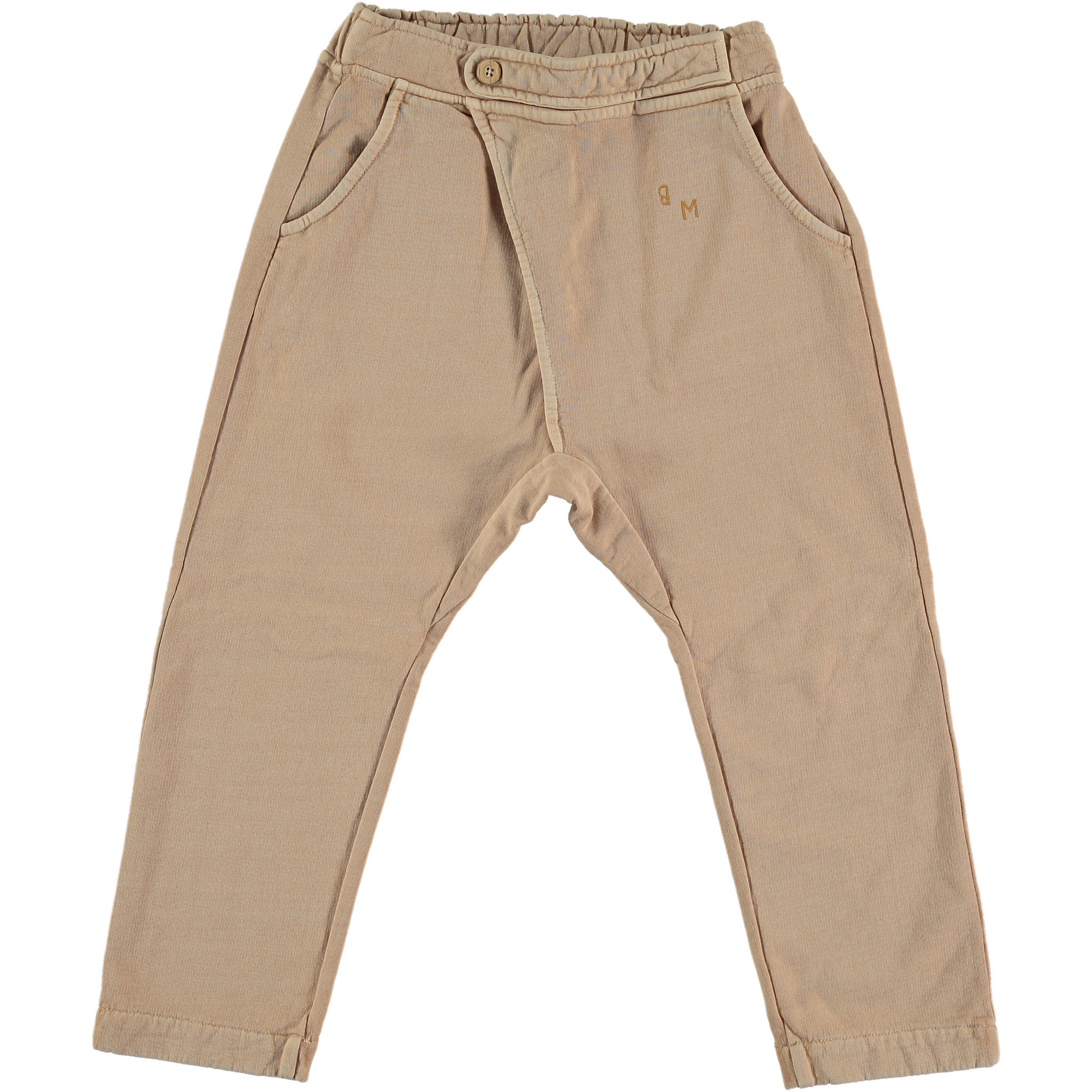 Baggy plain pant - Maple Sugar-1
