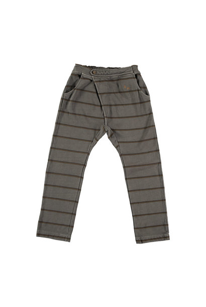 Baggy double stripe pant - Fungi