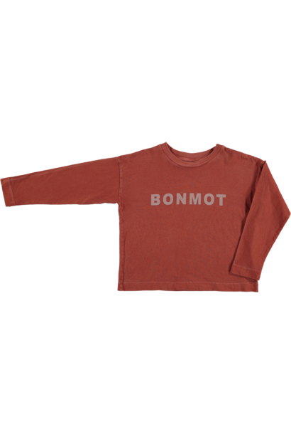 Relax long sleeved t-shirt Bonmot - Tomato