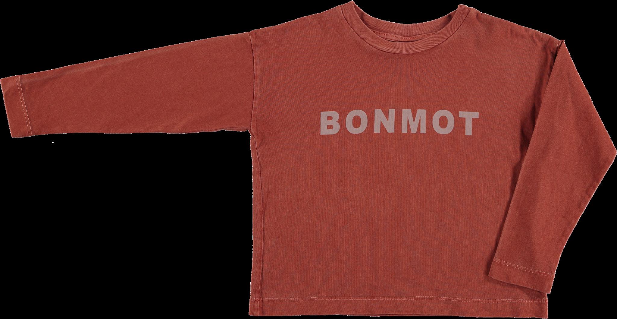 Relax long sleeved t-shirt Bonmot - Tomato-1