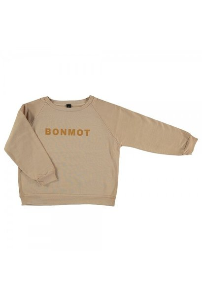 Raglan sweatshirt Bonmot - Maple Sugar