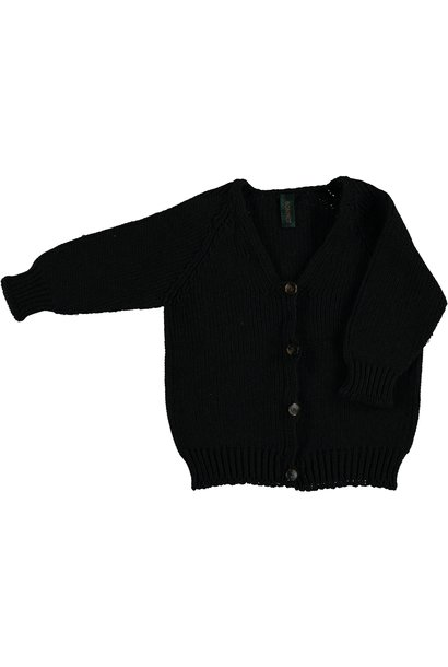 Cardigan v-neck plain - Dark Grey melange