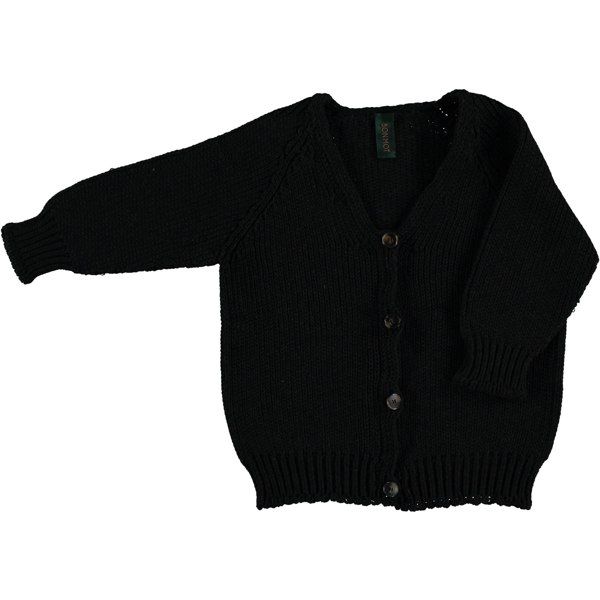 Cardigan v-neck plain - Dark Grey melange-1