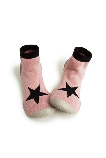 Pantoffels - Pink star