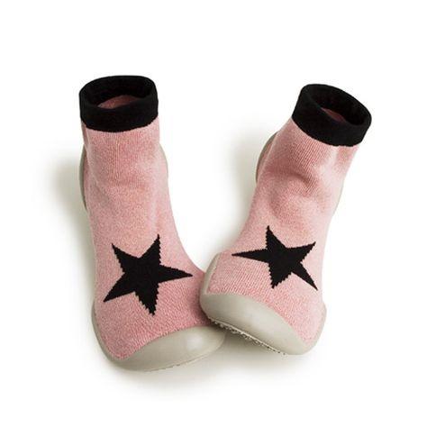 Pantoffels - Pink star-1