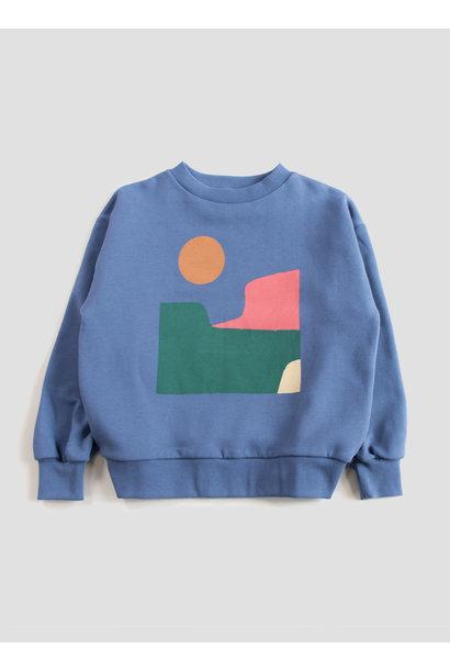 Balloon sweatshirt - Vintage Indigo Landscape