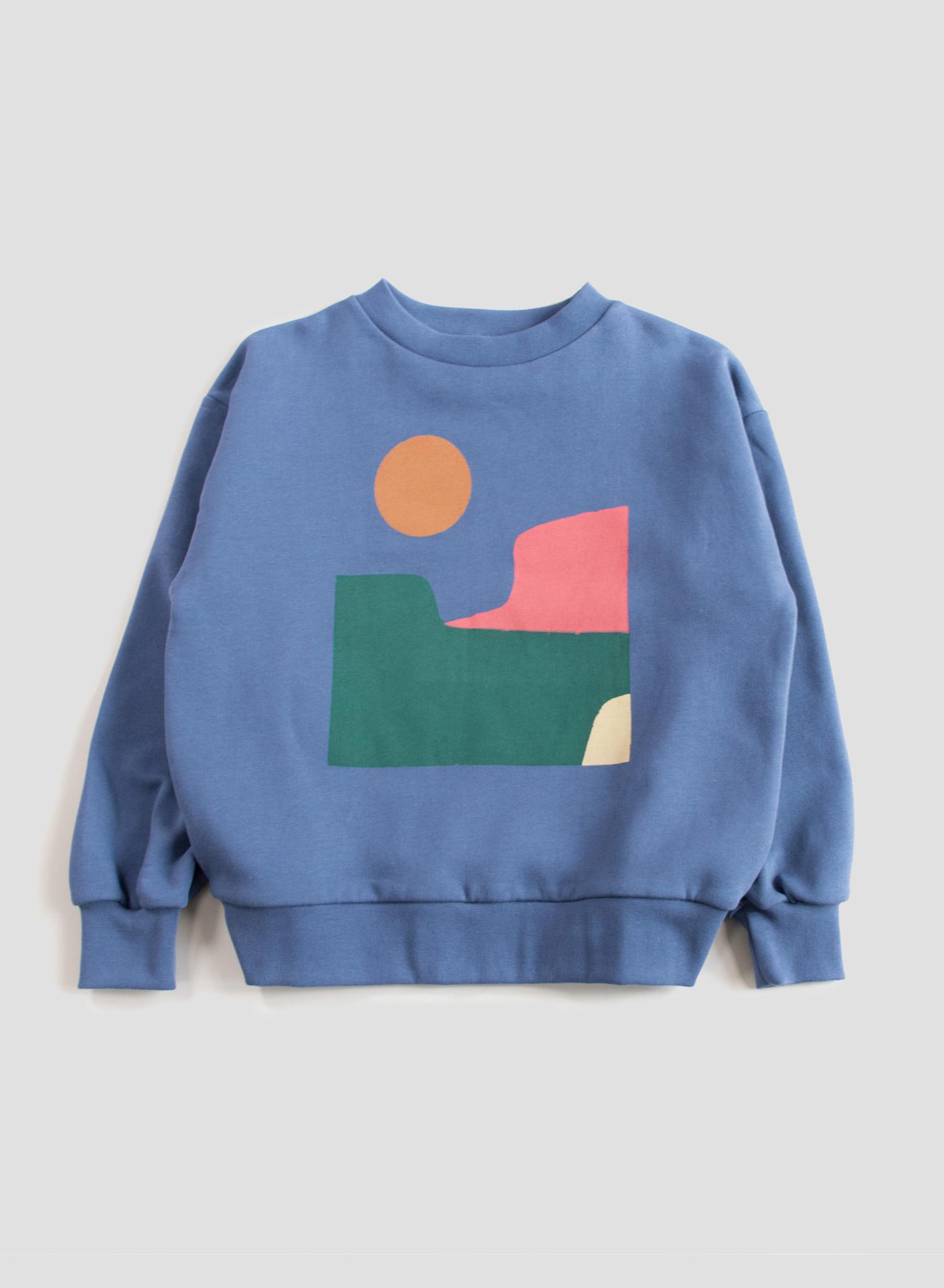 Balloon sweatshirt - Vintage Indigo Landscape-1