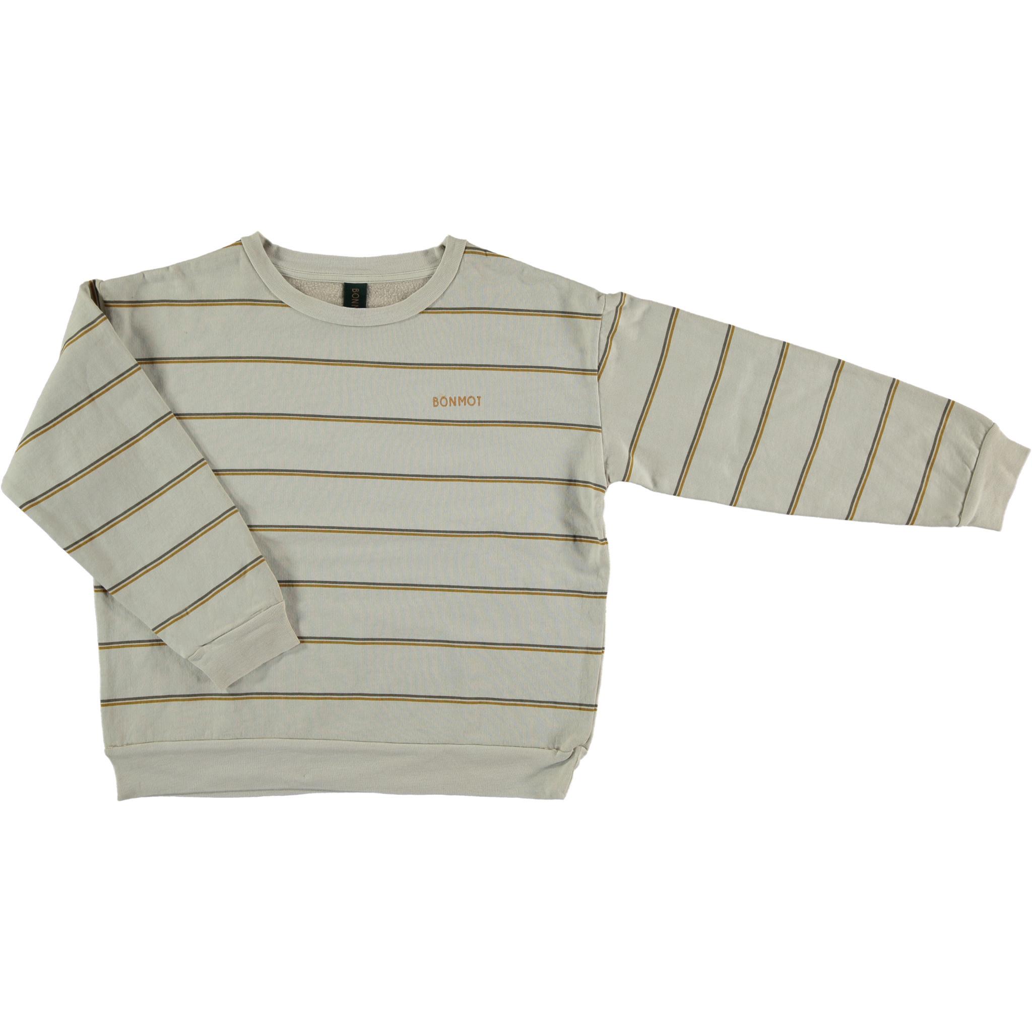 Sweatshirt double stripe - Maple Sugar-1