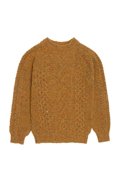 Noel tweed cable jumper - Ocre