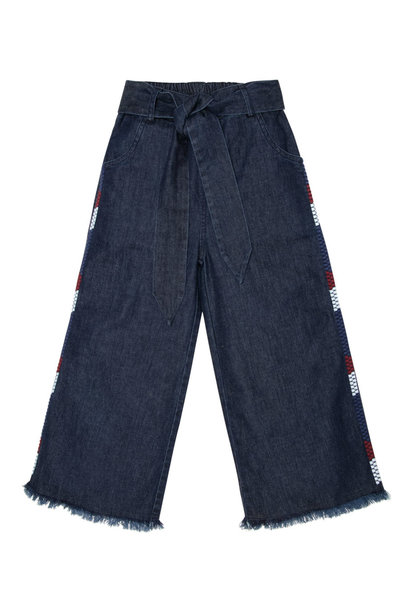 Julia denim pants with embroidery